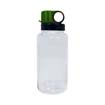 clear w/ green lid