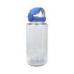 Clear w/ seaport blue lid